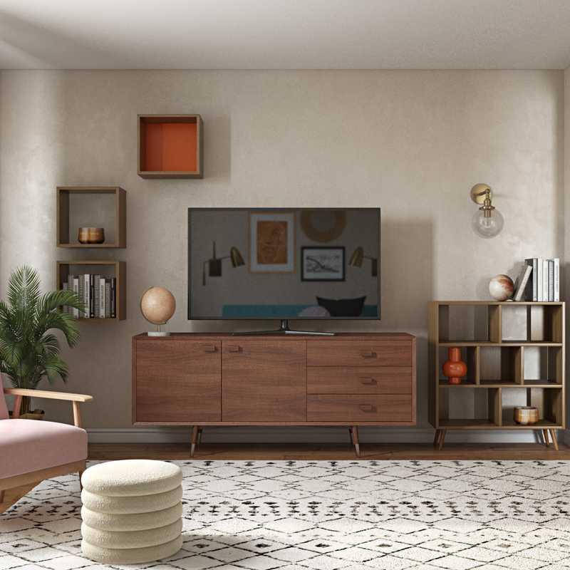Midcentury Modern Living Room Design by Havenly Interior Designer Edith