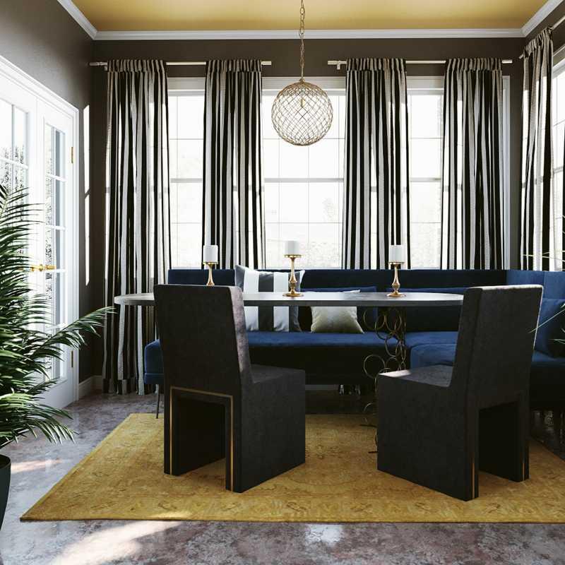 Modern, Glam Dining Room Design by Havenly Interior Designer Alicia