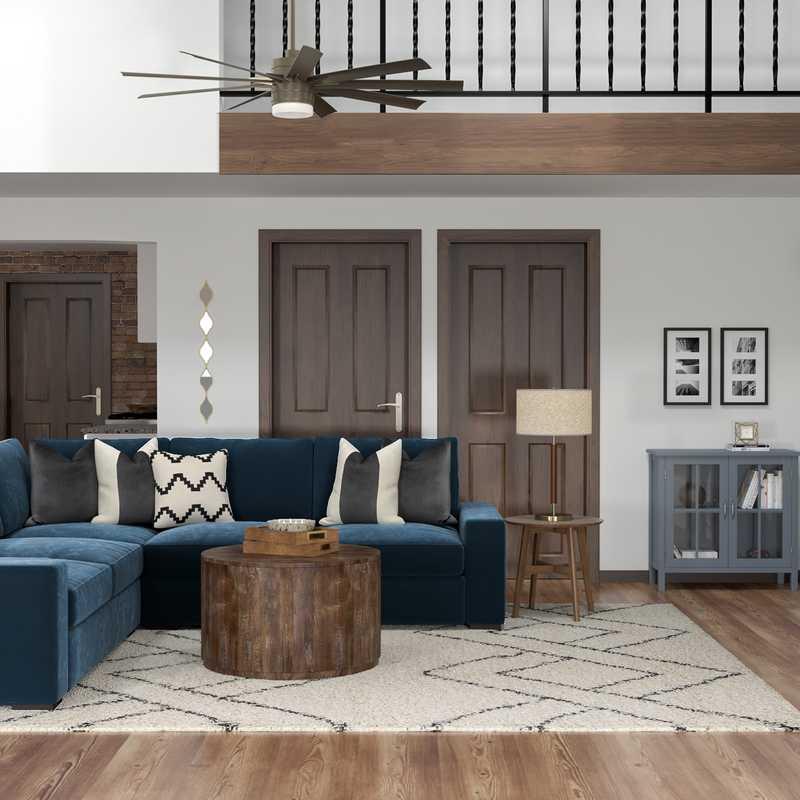 Bohemian, Glam Living Room Design by Havenly Interior Designer Alicia