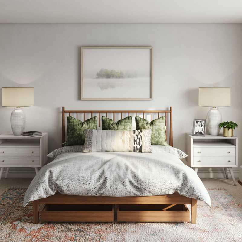 Glam, Transitional Bedroom Design by Havenly Interior Designer Natalie