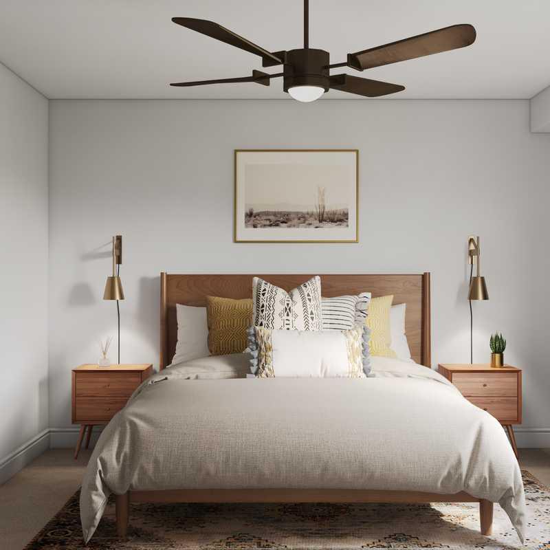 Midcentury Modern, Minimal Bedroom Design by Havenly Interior Designer Nicolle