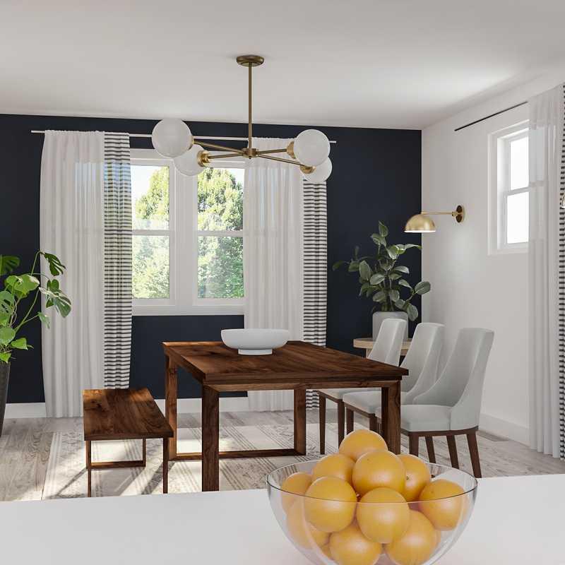 Modern, Farmhouse, Midcentury Modern Dining Room Design by Havenly Interior Designer Diana
