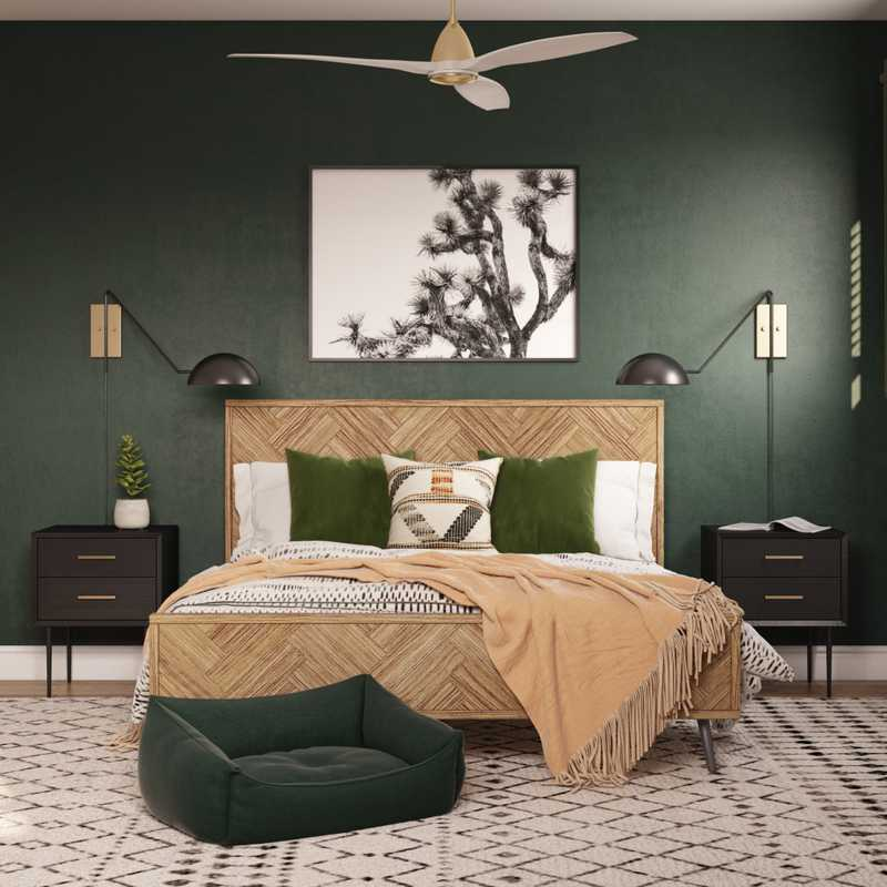 Industrial, Midcentury Modern, Scandinavian Bedroom Design by Havenly Interior Designer Taylor