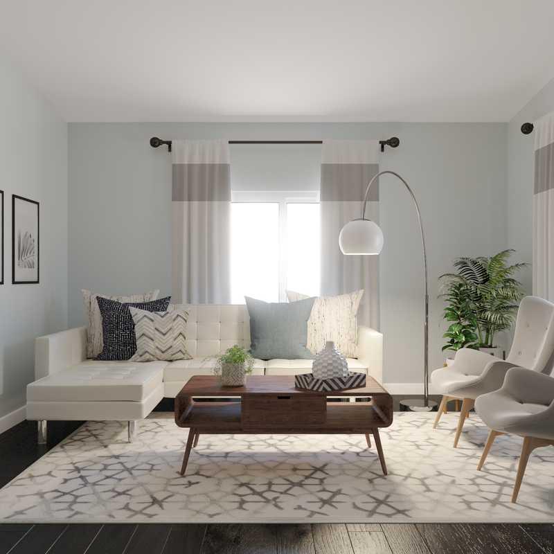 Modern, Bohemian, Midcentury Modern Living Room Design by Havenly Interior Designer Rebecca