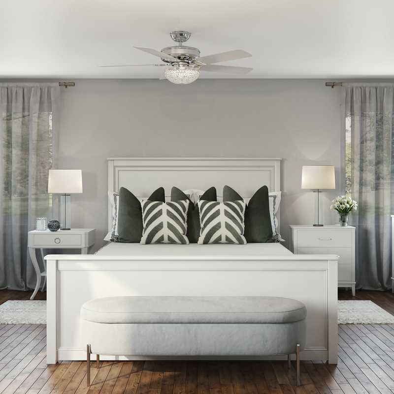 Contemporary, Modern, Glam Bedroom Design by Havenly Interior Designer Melisa