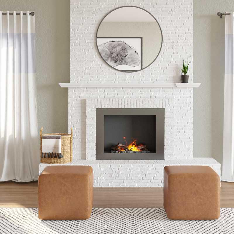 Modern, Bohemian, Industrial, Minimal, Scandinavian Living Room Design by Havenly Interior Designer Masooma