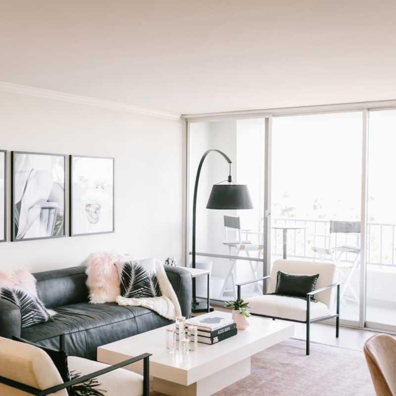 Modern, Glam, Scandinavian Living Room Design by Havenly Interior Designer Courtney