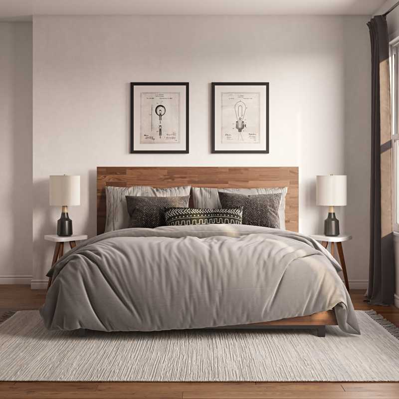 Contemporary, Modern, Midcentury Modern Bedroom Design by Havenly Interior Designer Rebecca