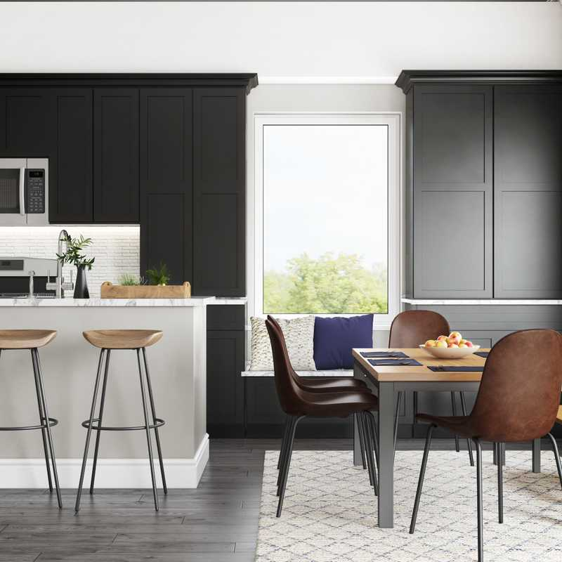 Modern, Farmhouse, Midcentury Modern Dining Room Design by Havenly Interior Designer Bethany
