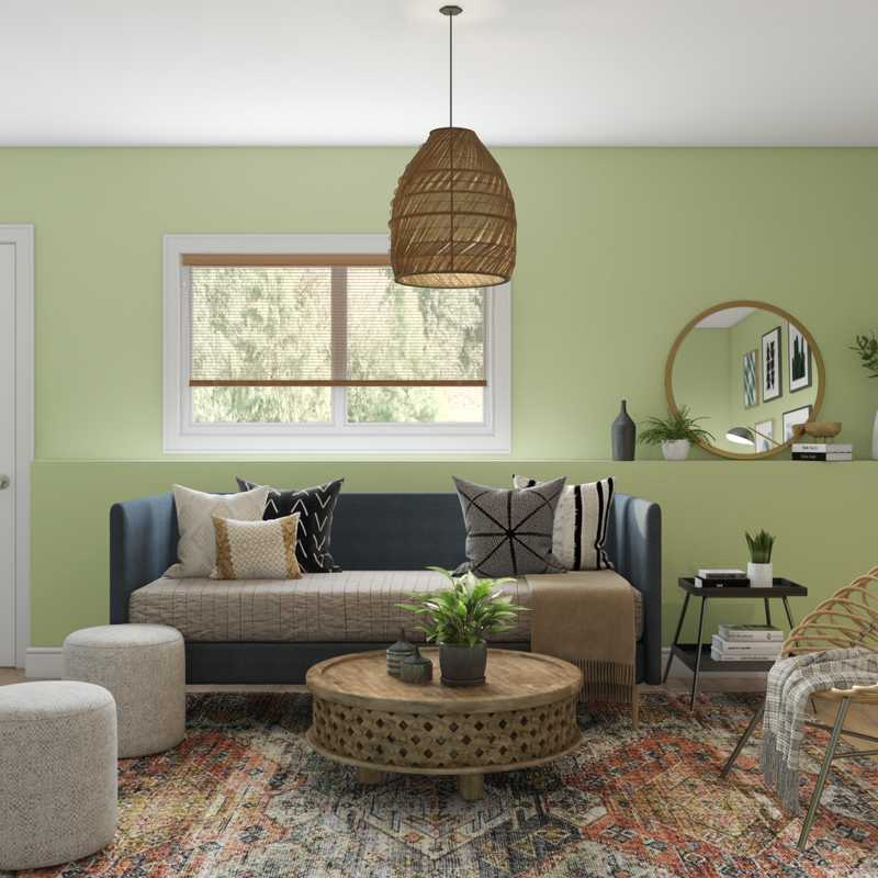 Eclectic, Bohemian, Vintage Living Room Design by Havenly Interior Designer Lyndsi