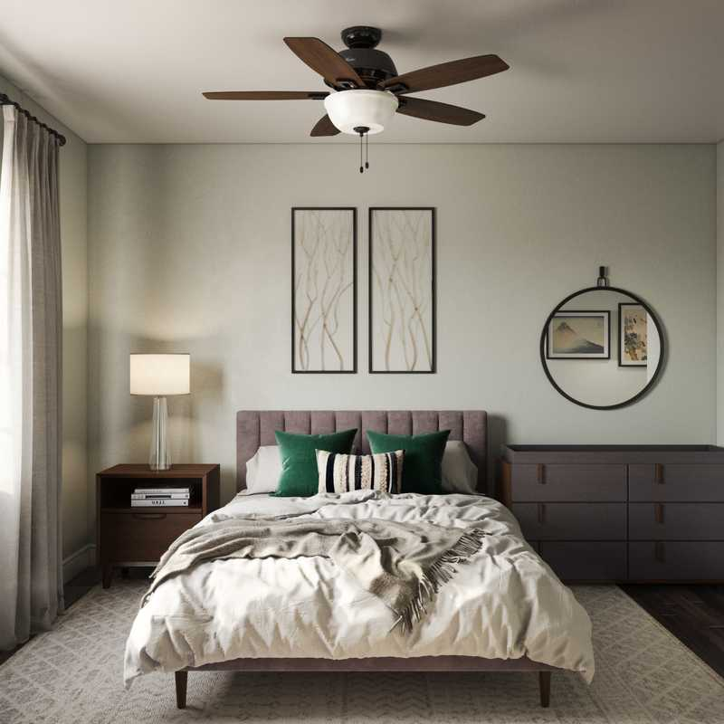 Contemporary, Modern, Industrial Bedroom Design by Havenly Interior Designer Melissa