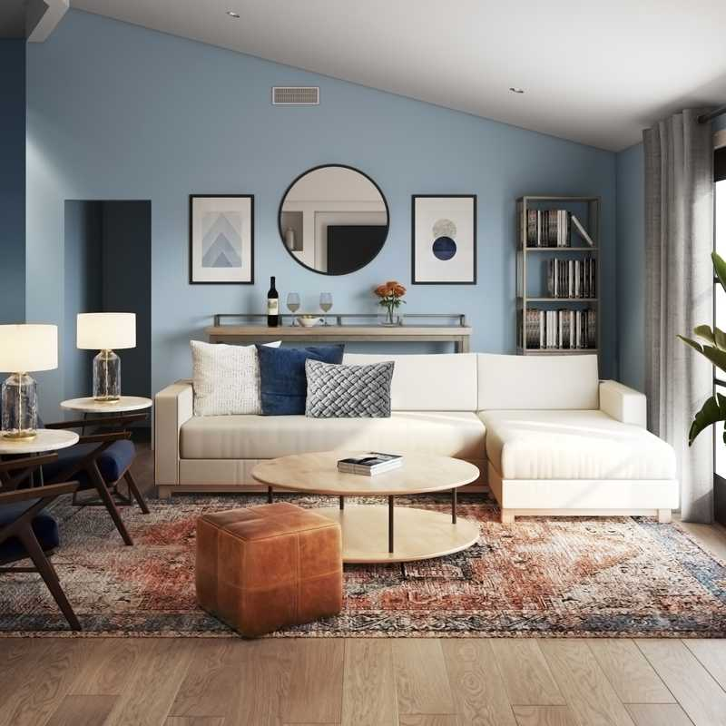 Modern, Minimal, Scandinavian Living Room Design by Havenly Interior Designer Michelle