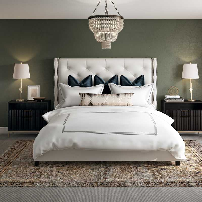 Classic, Eclectic Bedroom Design by Havenly Interior Designer Sara