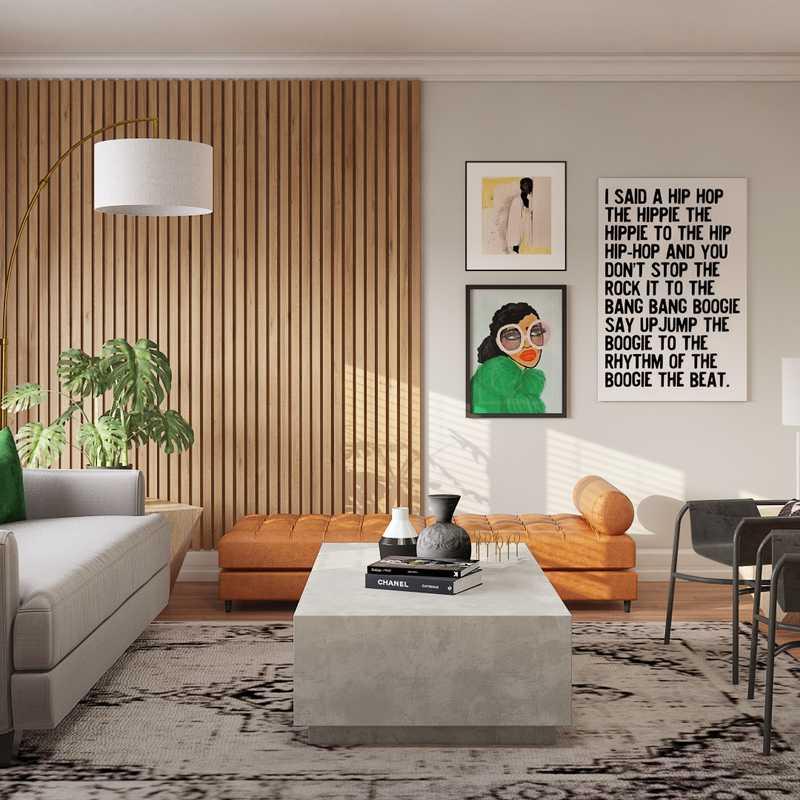 Modern, Eclectic, Midcentury Modern Living Room Design by Havenly Interior Designer Catrina