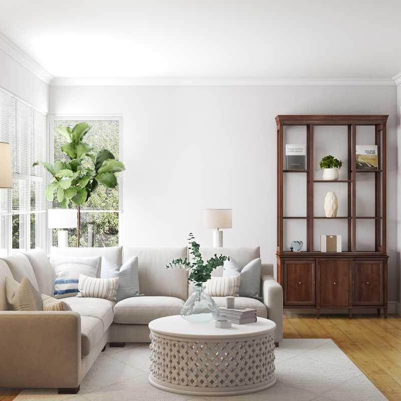 Classic, Farmhouse Living Room Design by Havenly Interior Designer Sara