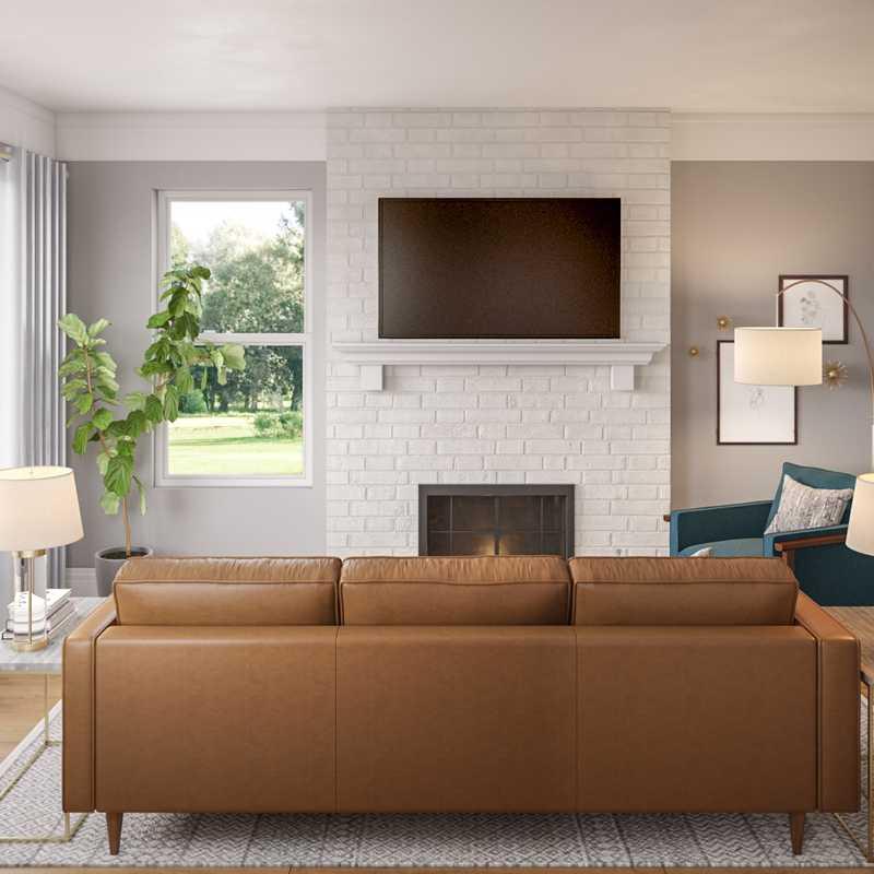 Modern, Glam, Transitional Living Room Design by Havenly Interior Designer Andy