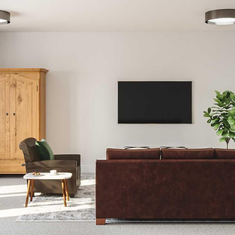 Eclectic, Bohemian, Minimal Living Room Design by Havenly Interior Designer Madi