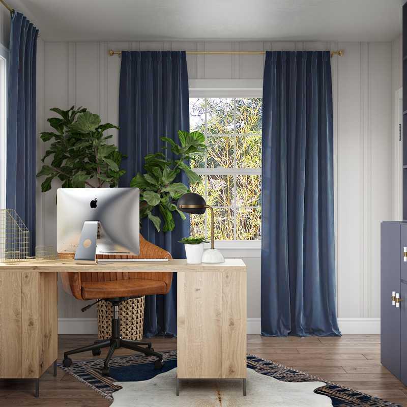 Modern, Minimal Office Design by Havenly Interior Designer Shameika