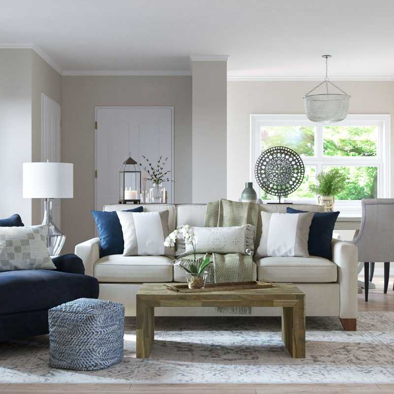 Modern, Classic Living Room Design by Havenly Interior Designer Tracie