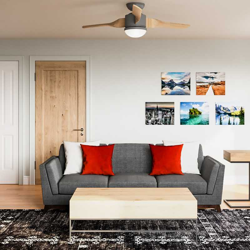 Industrial, Midcentury Modern Living Room Design by Havenly Interior Designer Isabella
