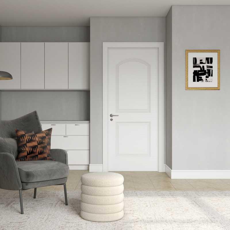 Modern, Glam, Minimal Office Design by Havenly Interior Designer Elyse