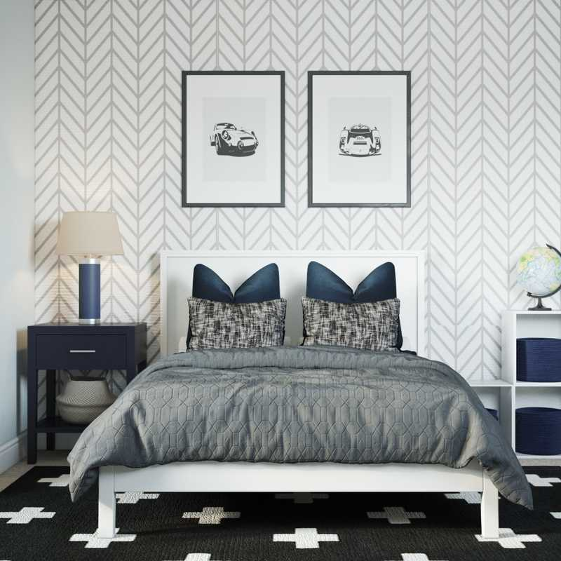 Contemporary, Midcentury Modern Bedroom Design by Havenly Interior Designer Lilly