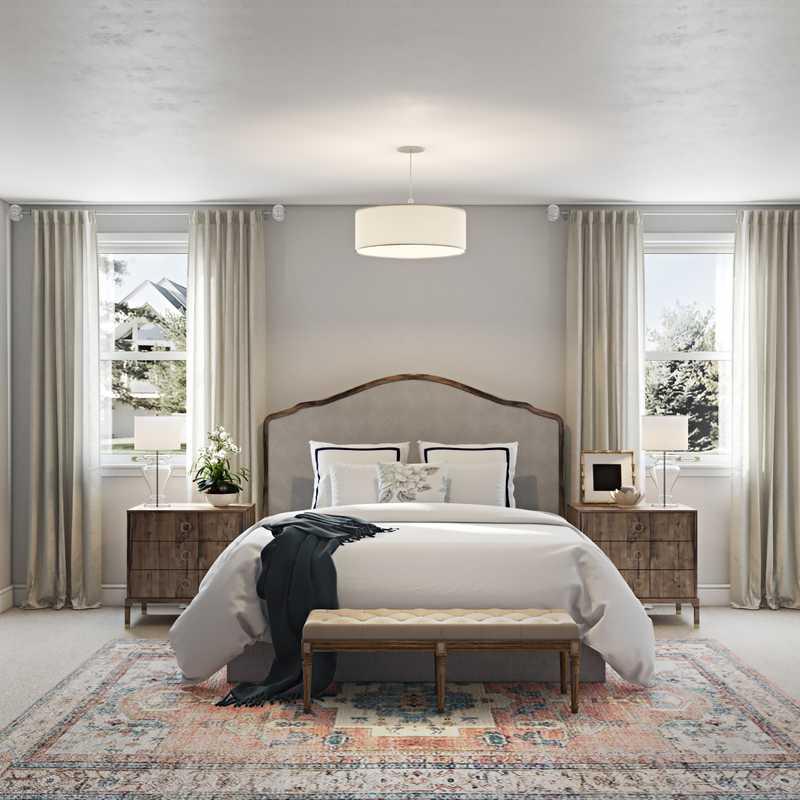 Classic, Preppy Bedroom Design by Havenly Interior Designer Sara