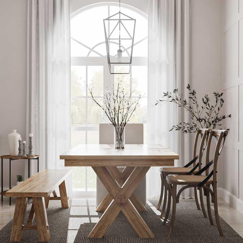 Coastal, Farmhouse, Country Dining Room Design by Havenly Interior Designer Lauren