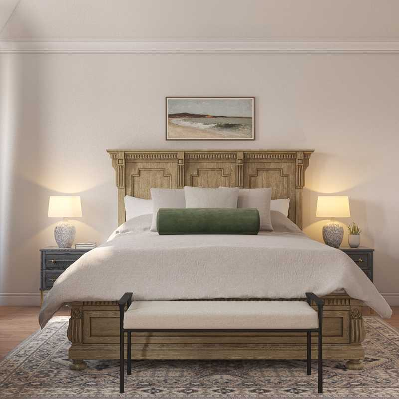 Contemporary, Modern, Bohemian, Transitional Bedroom Design by Havenly Interior Designer Corey