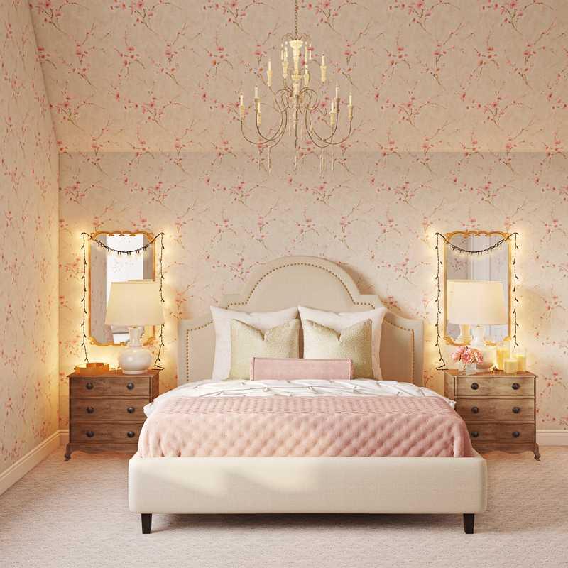 Traditional, Vintage Bedroom Design by Havenly Interior Designer Erin