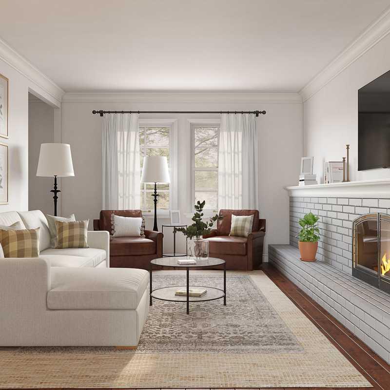 Classic, Farmhouse Living Room Design by Havenly Interior Designer Allie