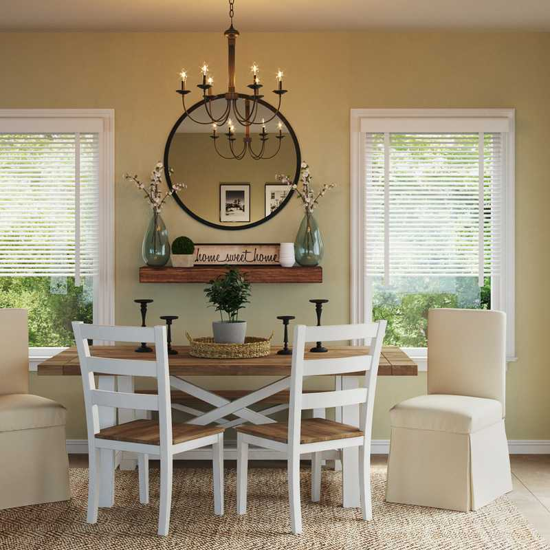 Traditional, Farmhouse Dining Room Design by Havenly Interior Designer Holly
