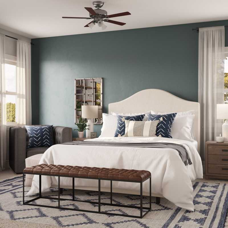 Contemporary Bedroom Design by Havenly Interior Designer Meghan