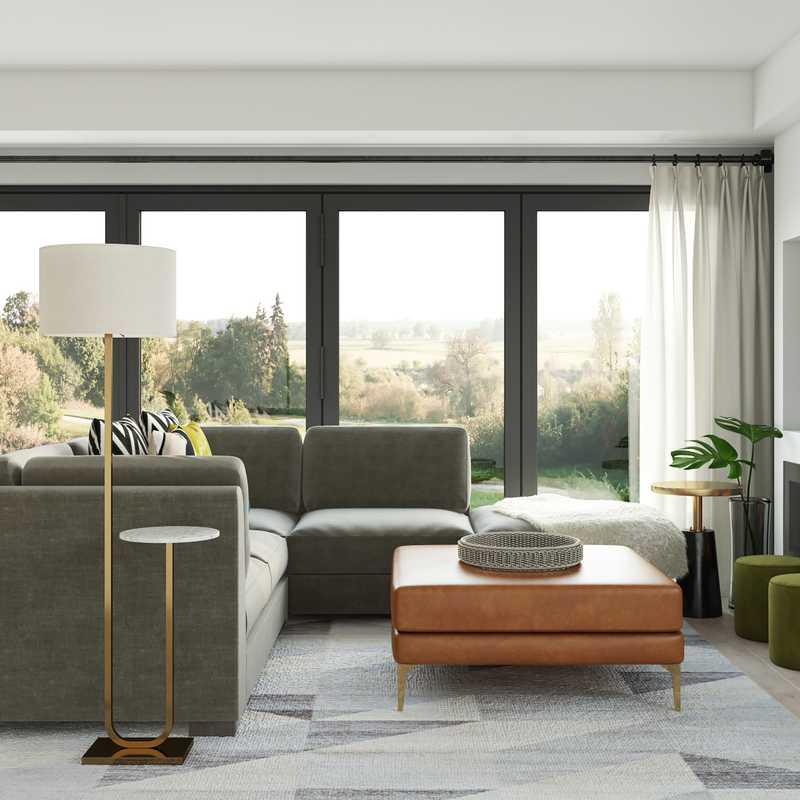 Eclectic, Midcentury Modern, Scandinavian Living Room Design by Havenly Interior Designer Cassidy