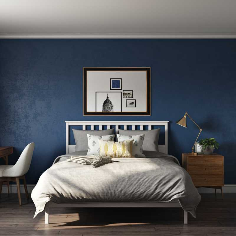 Eclectic, Midcentury Modern, Scandinavian Bedroom Design by Havenly Interior Designer Natalie