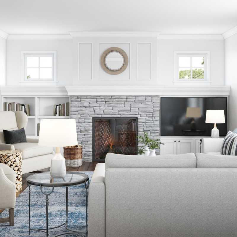 Contemporary, Classic, Coastal, Farmhouse Living Room Design by Havenly Interior Designer Vivian