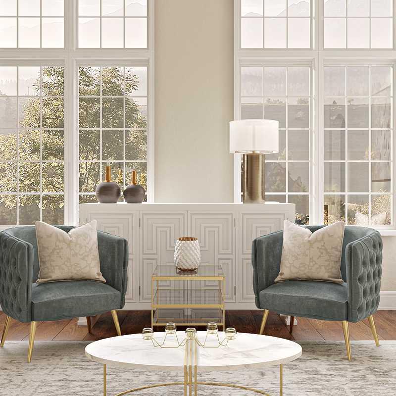 Modern, Glam Living Room Design by Havenly Interior Designer Laura