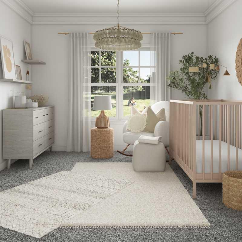 Bohemian, Scandinavian Nursery Design by Havenly Interior Designer Elisabeth