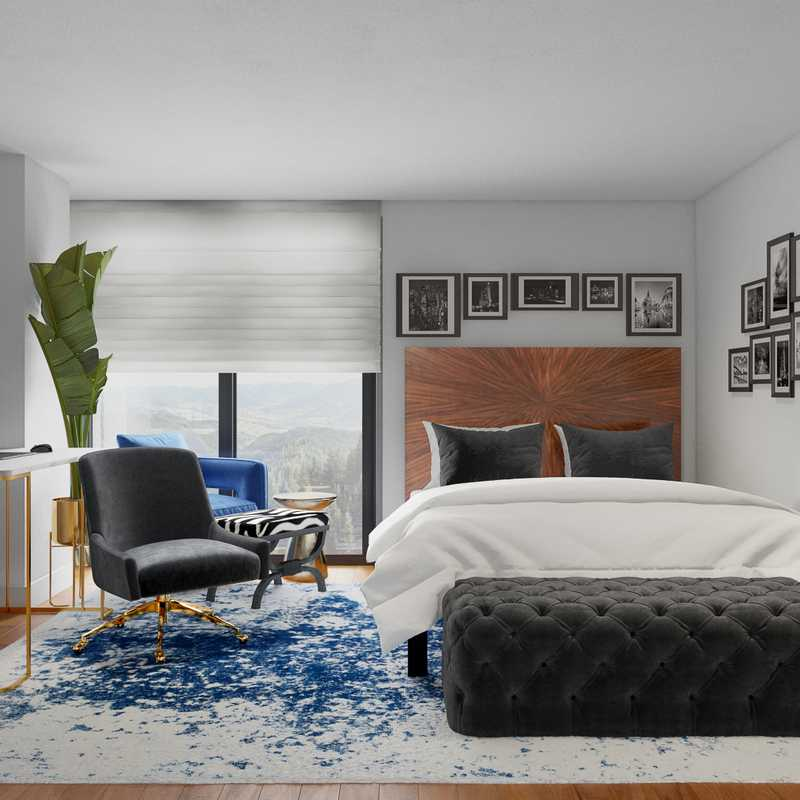 Eclectic Bedroom Design by Havenly Interior Designer Julio