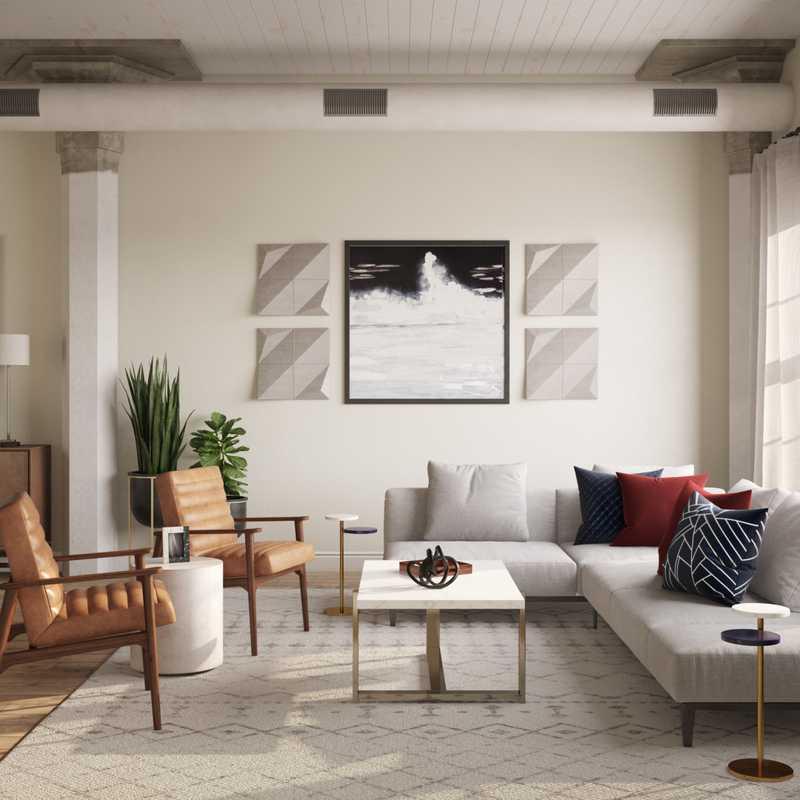 Modern Living Room Design by Havenly Interior Designer Erica