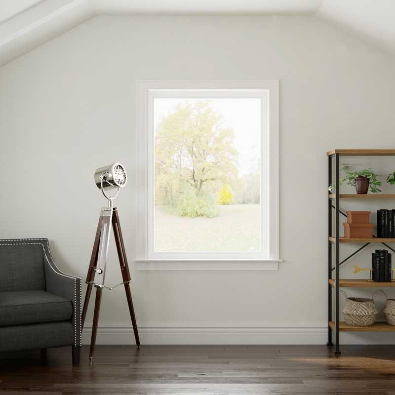 Bohemian, Farmhouse, Rustic Office Design by Havenly Interior Designer Rebecca