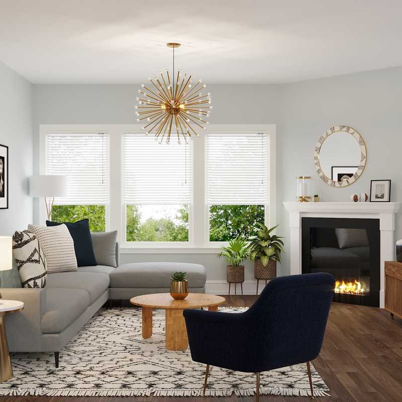 Eclectic, Midcentury Modern Living Room Design by Havenly Interior Designer Cathrine
