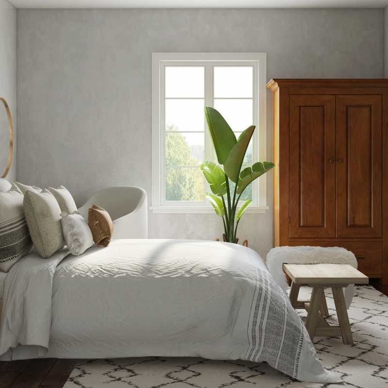 Bohemian, Coastal, Farmhouse, Transitional, Global Bedroom Design by Havenly Interior Designer Brit