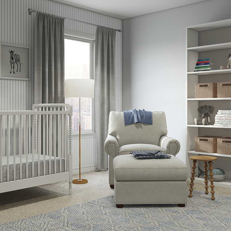 Classic, Traditional Nursery Design by Havenly Interior Designer Madeline