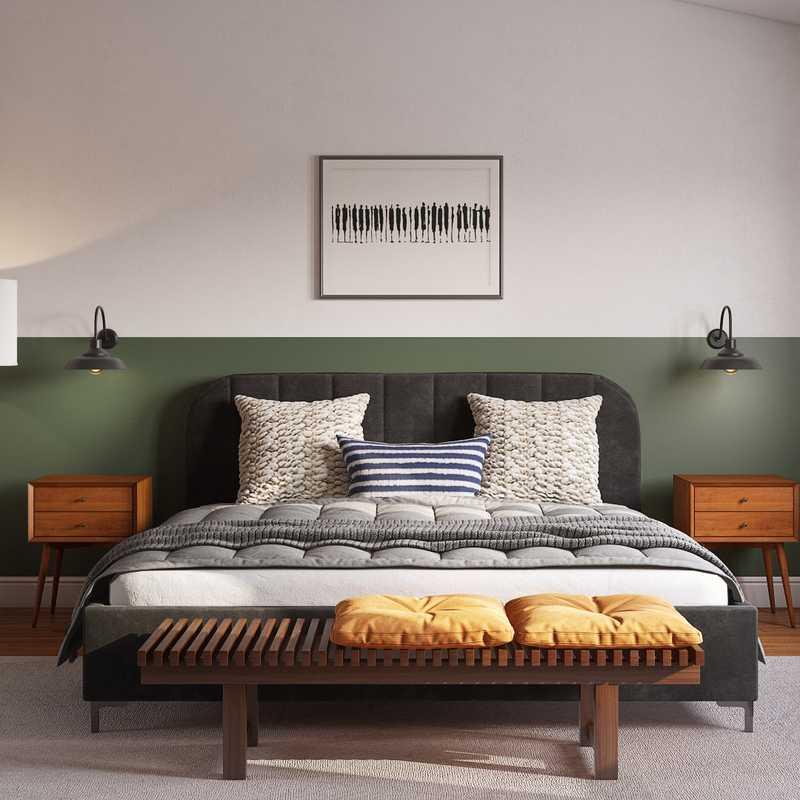Contemporary, Industrial, Rustic Bedroom Design by Havenly Interior Designer Mariana