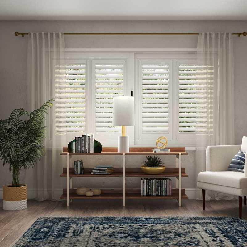 Bohemian, Midcentury Modern, Scandinavian Bedroom Design by Havenly Interior Designer Angela