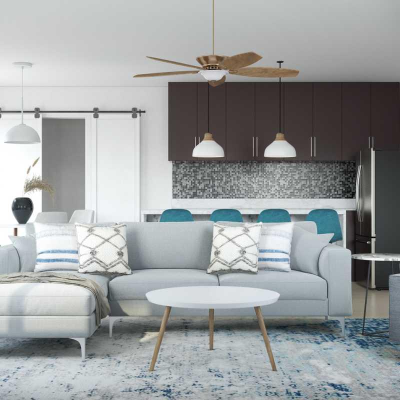 Modern, Midcentury Modern, Scandinavian Living Room Design by Havenly Interior Designer Adrian