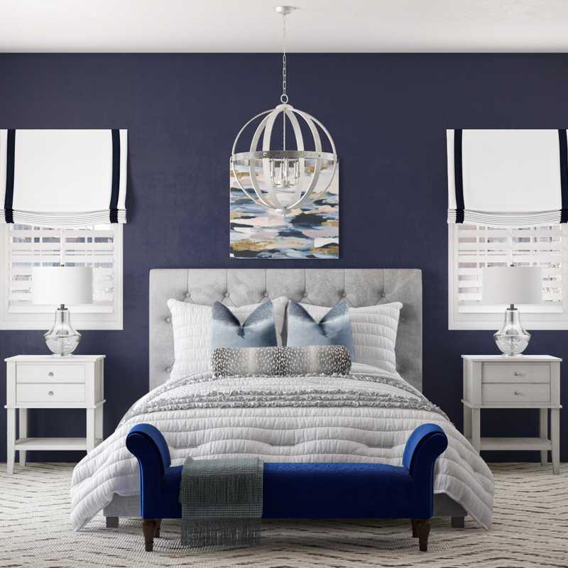 Bohemian, Glam, Farmhouse Bedroom Design by Havenly Interior Designer Shavonne