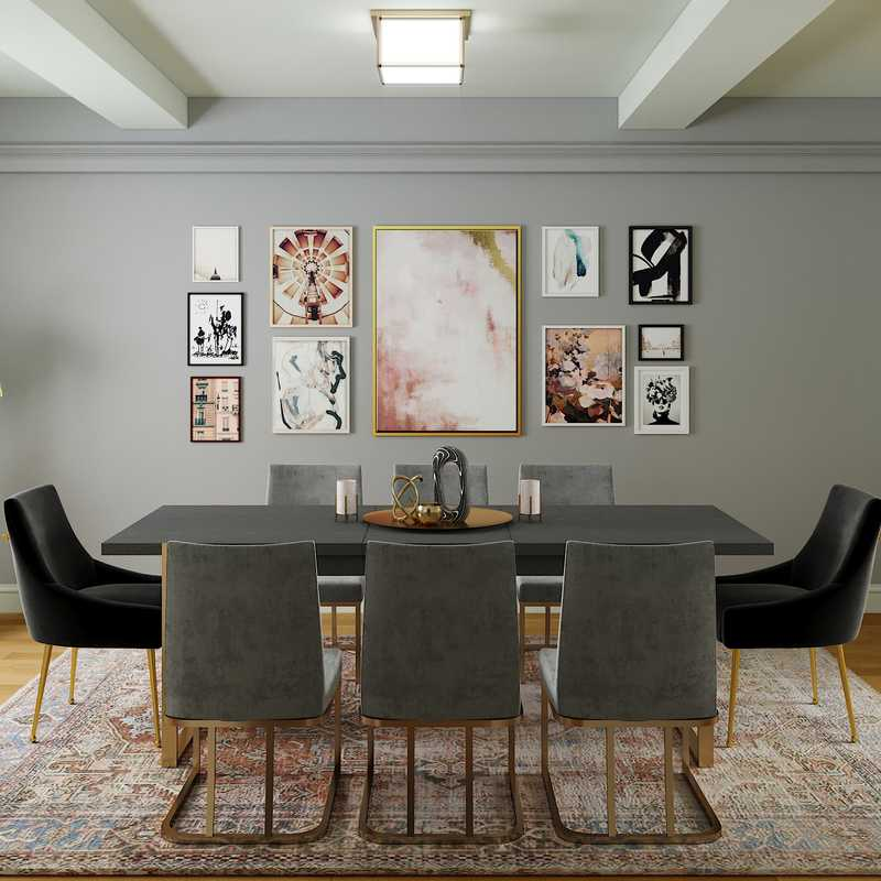 Modern, Midcentury Modern Dining Room Design by Havenly Interior Designer Adrian
