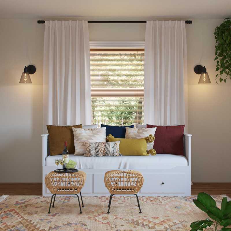 Modern, Bohemian Bedroom Design by Havenly Interior Designer Stacy